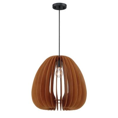 Lika 1-Light Mehana Wood Hanging Pendant