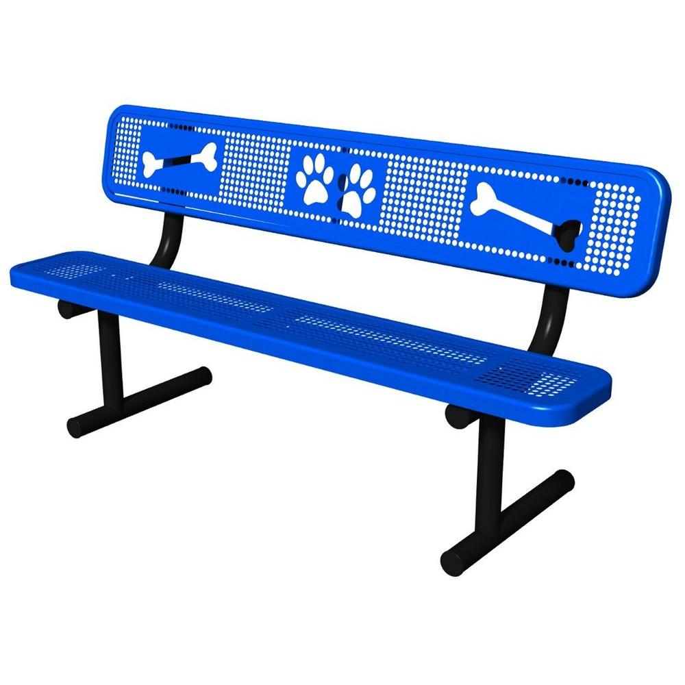 Ultra Play Blue Paws Dog Park Commercial Bench