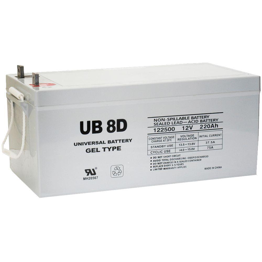 Upg Sla Gel 12 Volt 250 Ah L4 Terminal Battery Ub 8d Gel