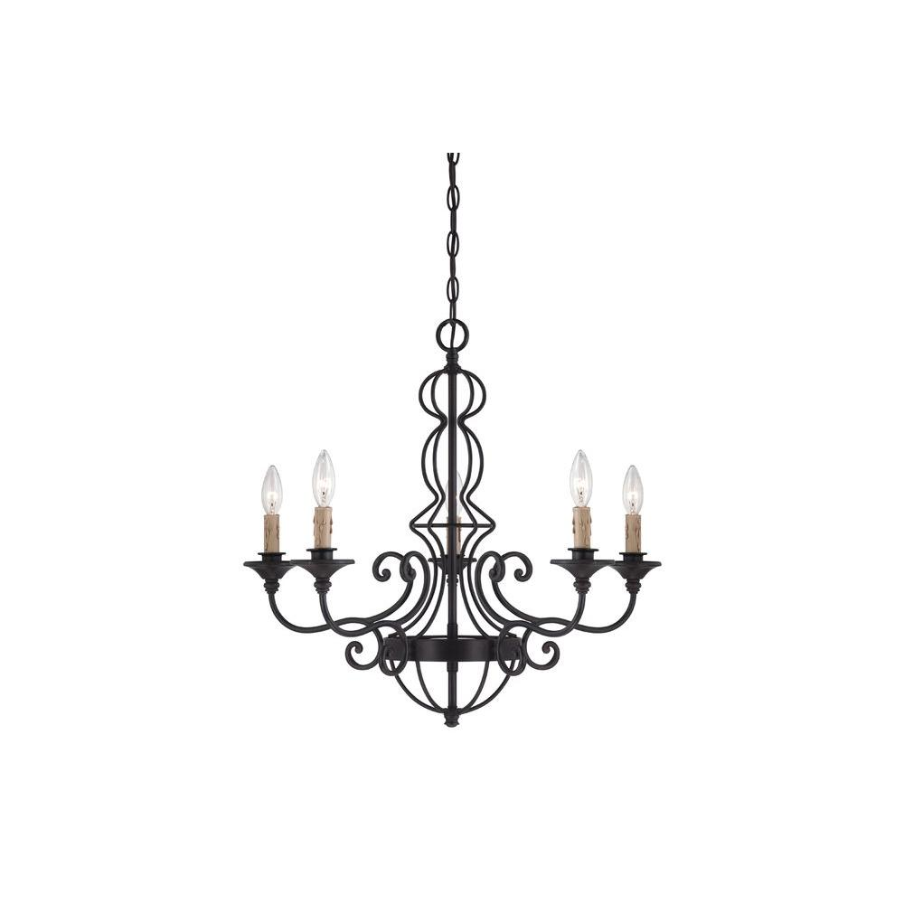 designers fountain tangier 5-light natural iron chandelier-85585-ni