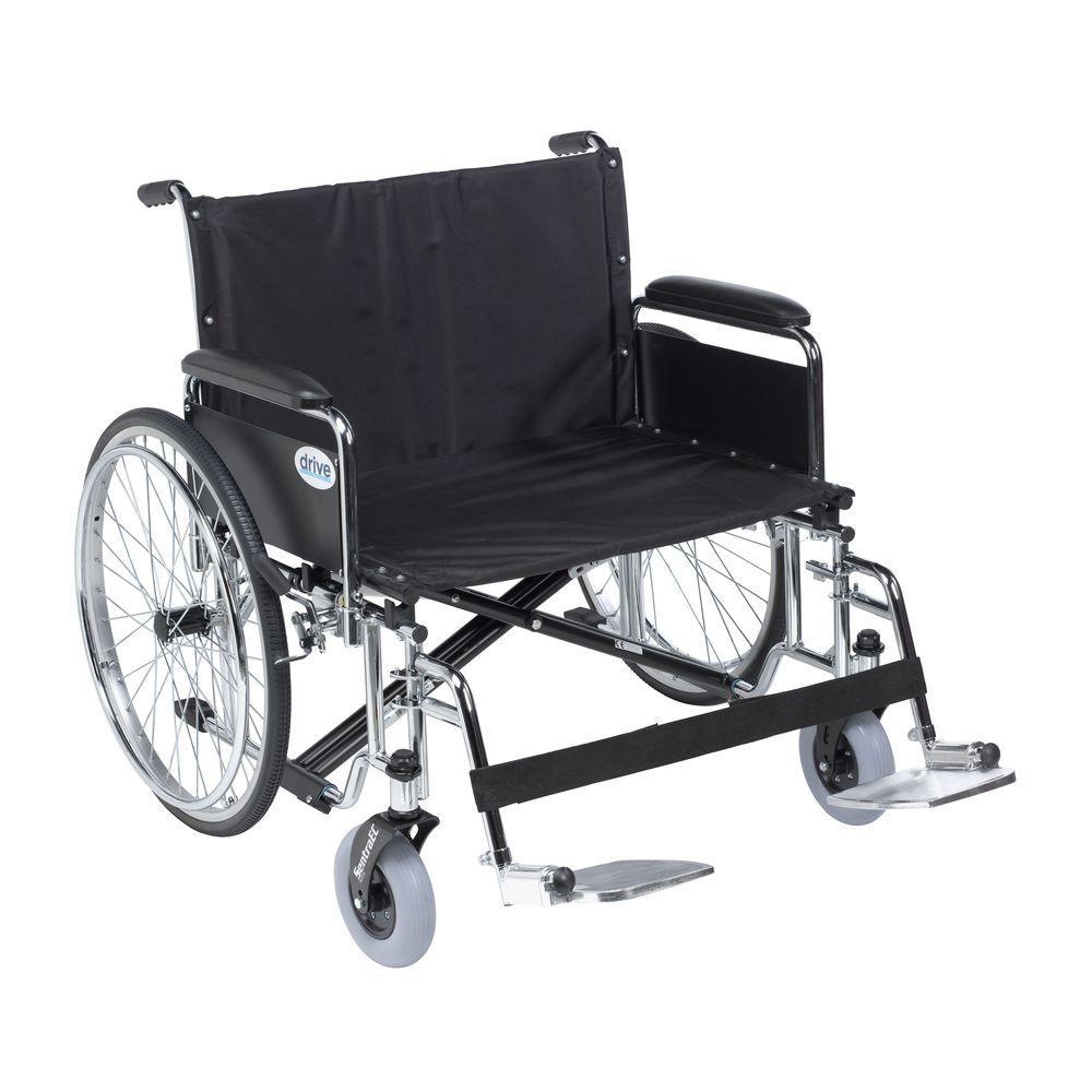 Drive Sentra EC Heavy Duty Extra Wide Wheelchair, Detacha...