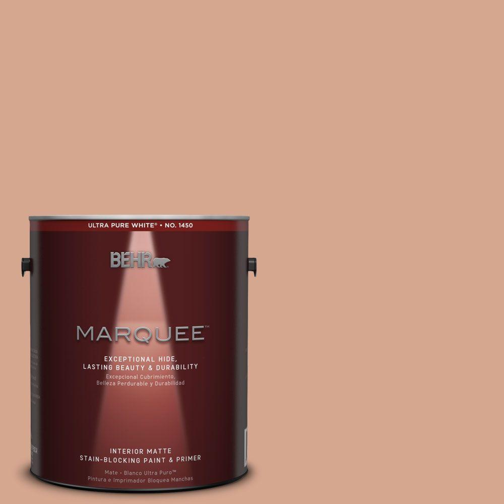 1 gal. #MQ1-30 Peachy Confection One-Coat Hide Matte Interior Paint