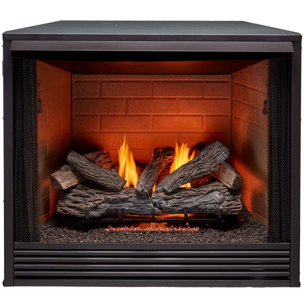 Procom 36 In Ventless Gas Firebox Insert Pc36vfc The Home Depot