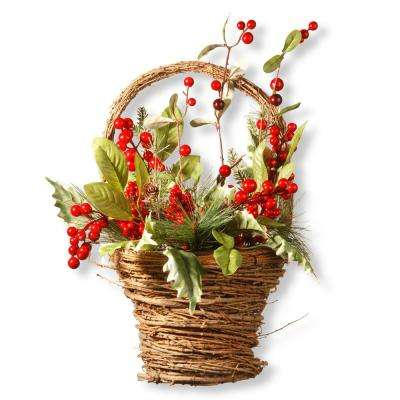 16 in. Holiday Basket