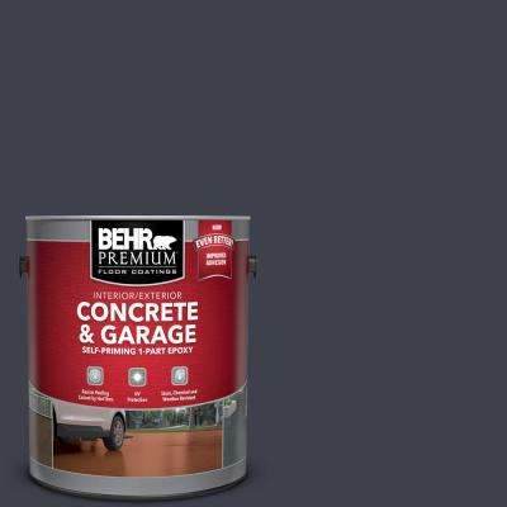 1 gal. #ECC-23-3 Blackbird Self-Priming 1-Part Epoxy Satin Interior/Exterior Concrete and Garage Floor Paint