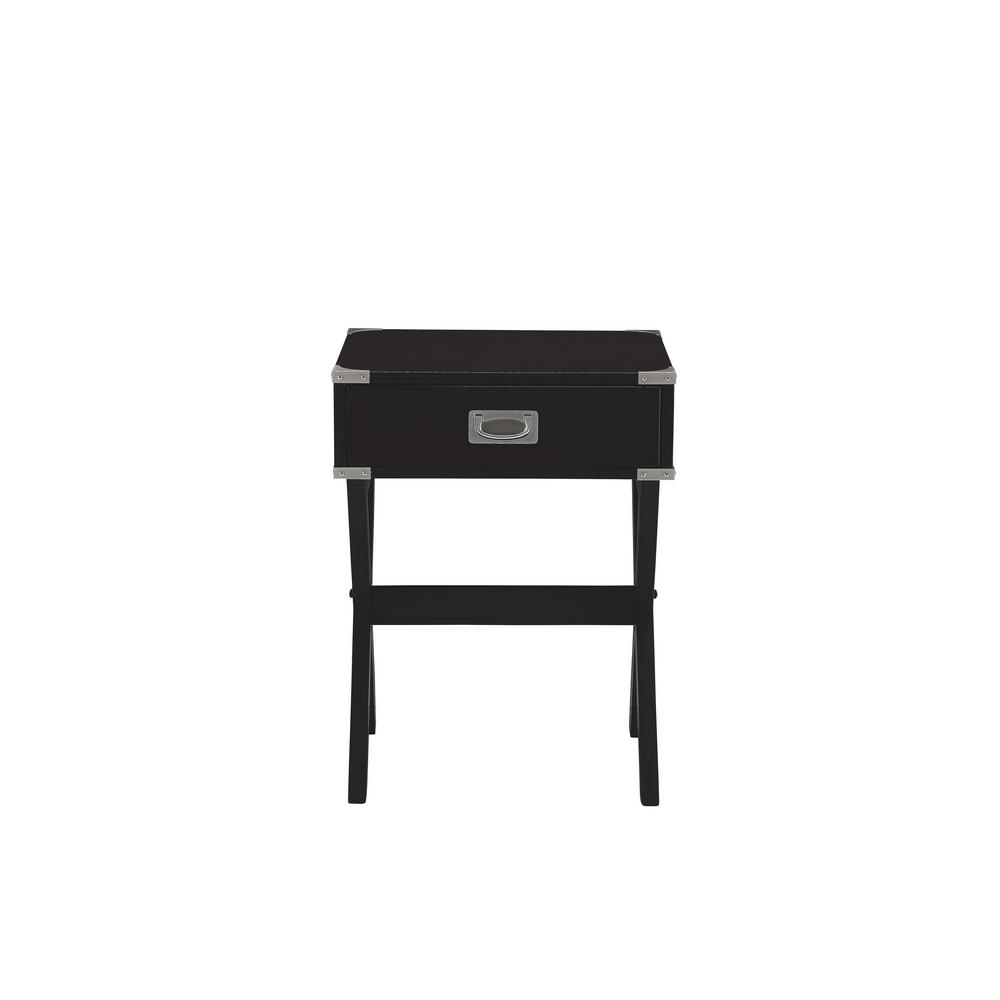 Babs Black Storage End Table
