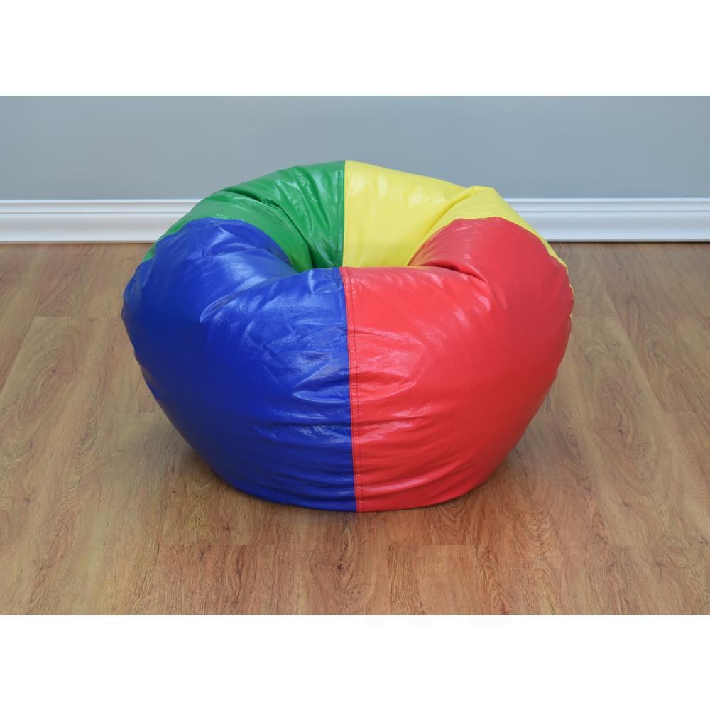 Awe Inspiring Multi Color Vinyl Bean Bag Pabps2019 Chair Design Images Pabps2019Com