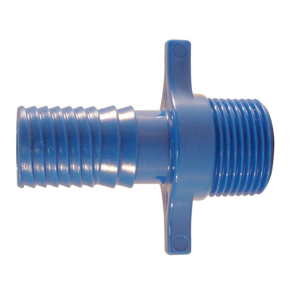 3/4 in. Polypropylene Blue Twister Insert x MPT
