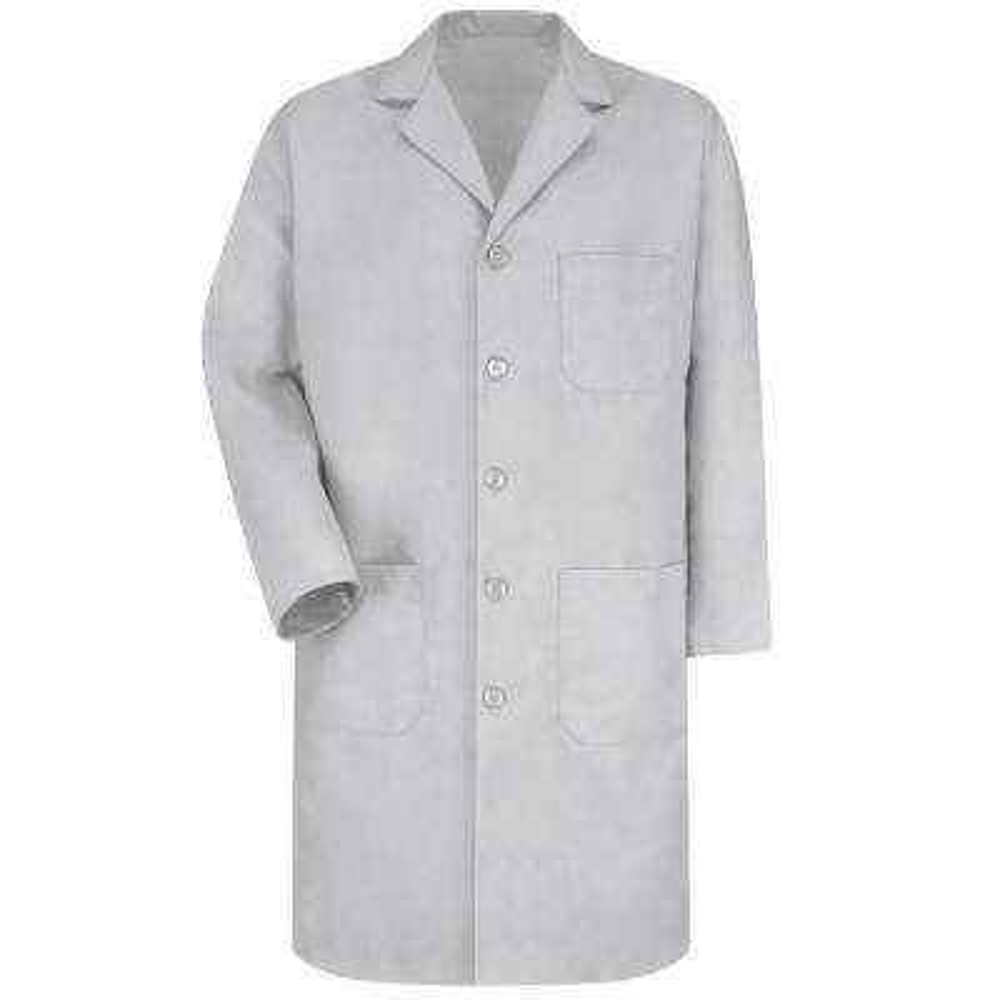 Men's Size 46 Light Grey Lab Coat