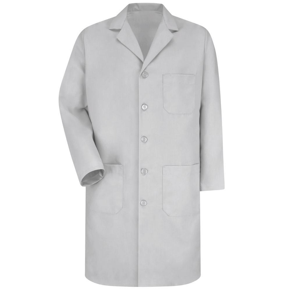 Men's Size 54 Light Grey Lab Coat