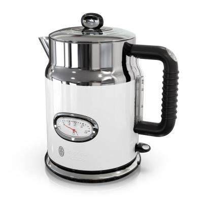 Retro Style 5-Cup/1.7 l Electric Kettle in White and Stainless Steel