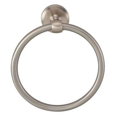 Norville Towel Ring in Satin Nickel