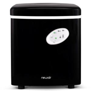 Portable 28 lb. of Ice a Day Countertop Ice Maker BPA Free Parts with 3 Ice Sizes and Ice Scoop - Black