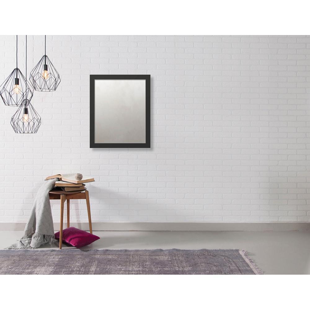 Hyde 18.875 in. x 22.875 in. Modern Framed Antique Mirror