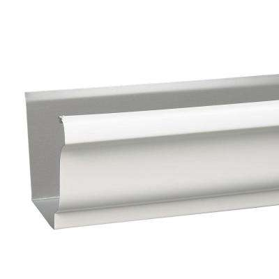 6 in. x 10 ft. K-Style White Aluminum 30 Degree Gutter