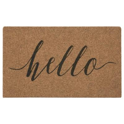 Natural Hello Calligraphy 18 in. x 30 in. Grand Terrace