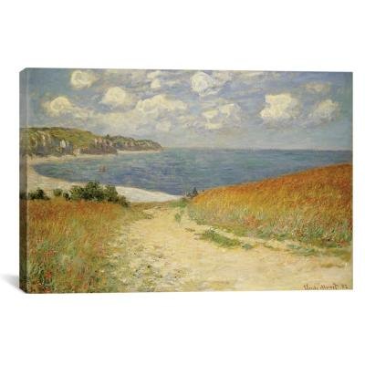 """""""Path in the Wheat at Pourville, 1882"""" by Claude Monet Canvas Wall Art"""