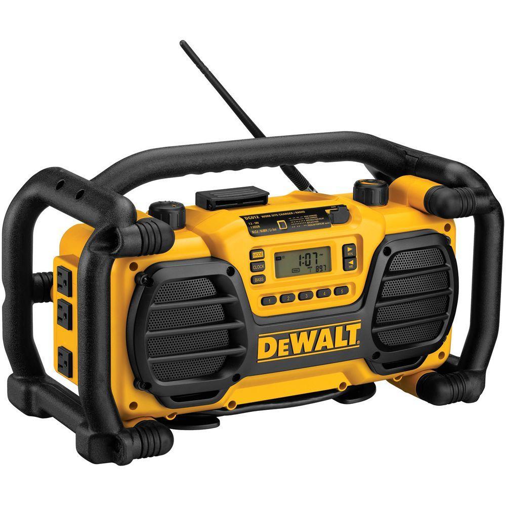 DEWALT 7.2-Volt-18-Volt Heavy-Duty Worksite Radio Charger