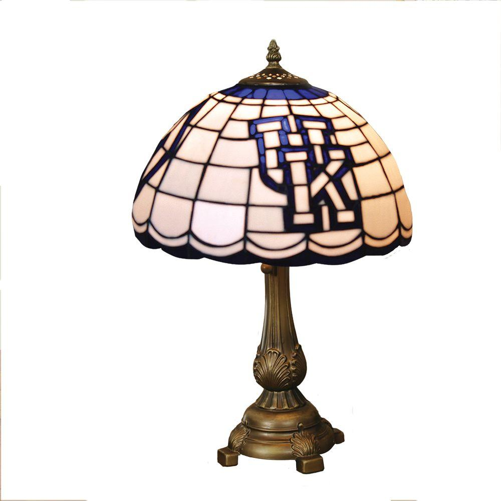 The Memory Company NCAA Kentucky State Wildcats Stained Glass Tiffany Table Lamp-DISCONTINUED