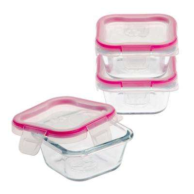 Total Solution Glass Food Storage Value 6-Piece Square Set