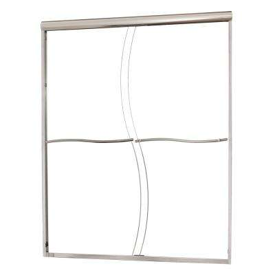 Marina 60 in. W x 60 in. H Frameless Sliding Tub Door in Silver