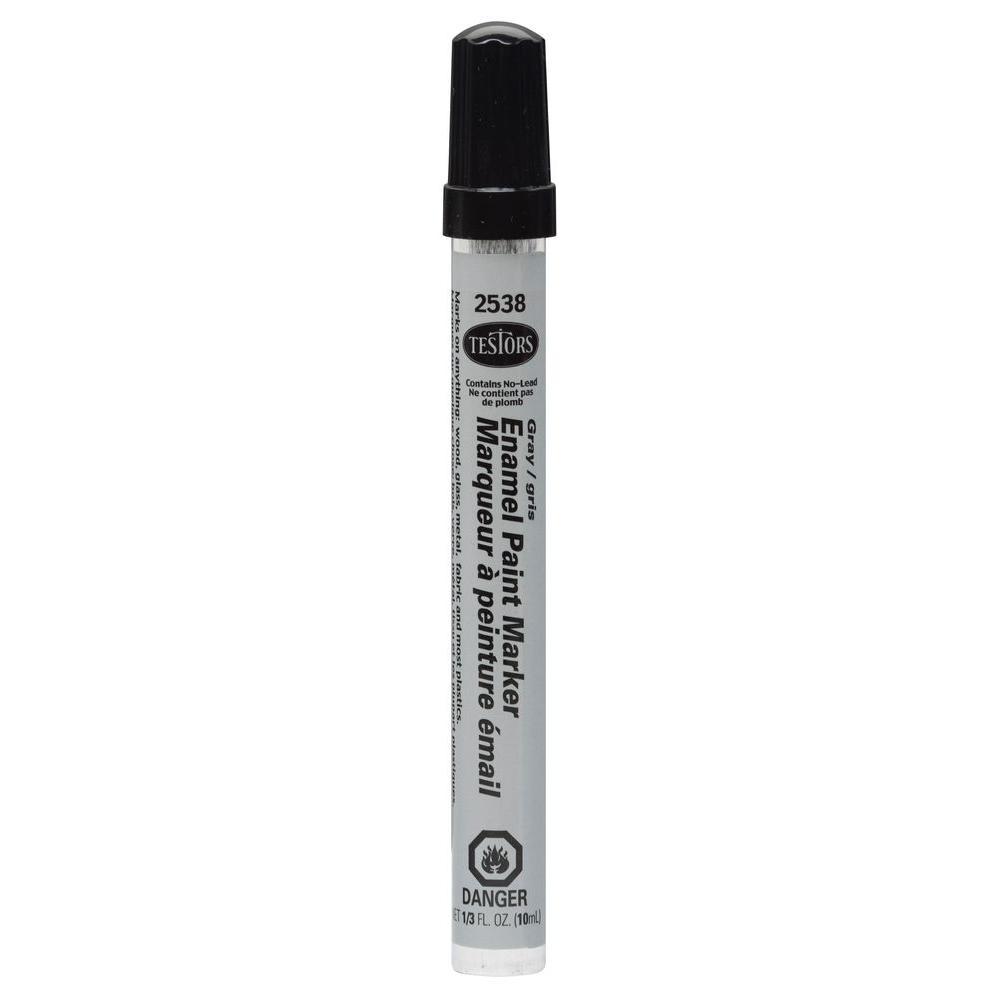 Testors Gloss Gray Enamel Paint Marker (6-Pack)