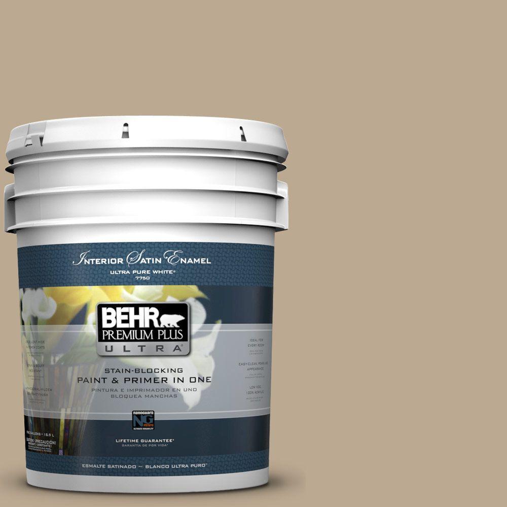BEHR Premium Plus Ultra 5-gal. #N300-4 Open Canyon Satin Enamel Interior Paint
