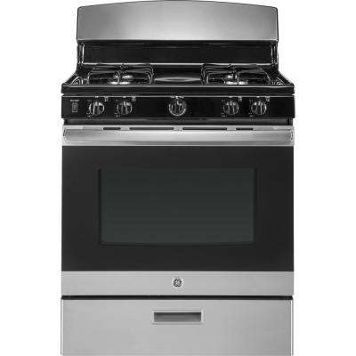 30 in. 4.8 cu. ft. Single Gas Range in Stainless Steel