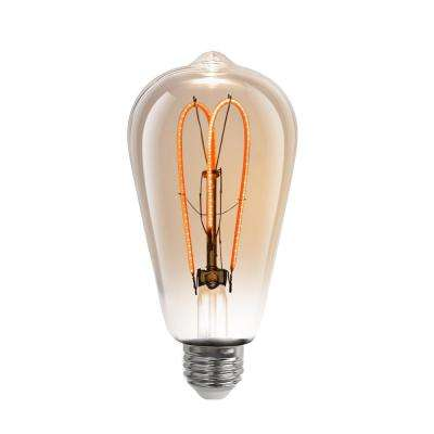 40w Equivalent Soft White 2000k St19 Dimmable M Type Filament Led Vintage Style