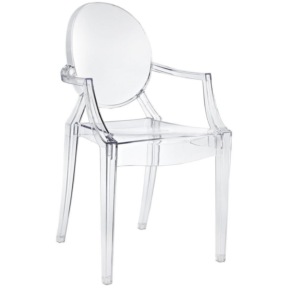 Casper Clear Dining Arm Chair