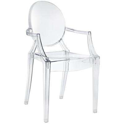 Casper Clear Dining Arm Chair