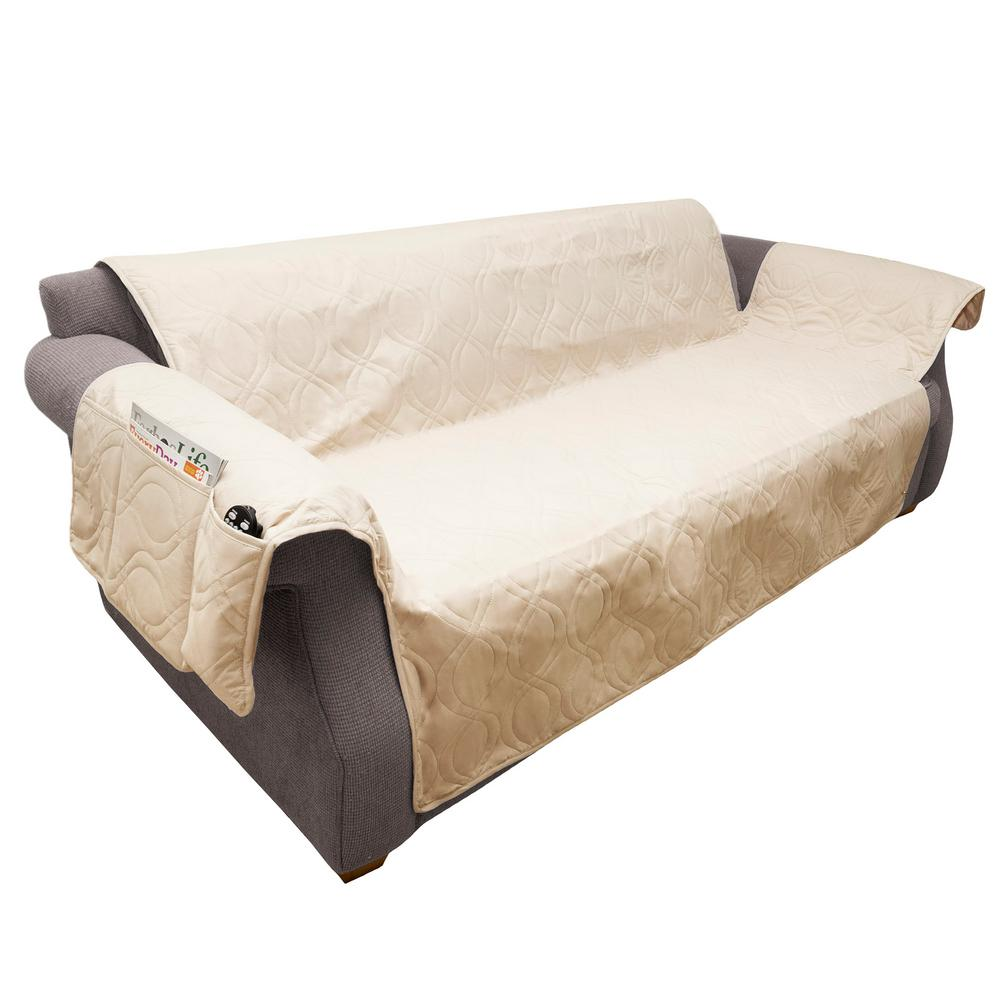 Petmaker Non Slip Tan Waterproof Sofa Slipcover