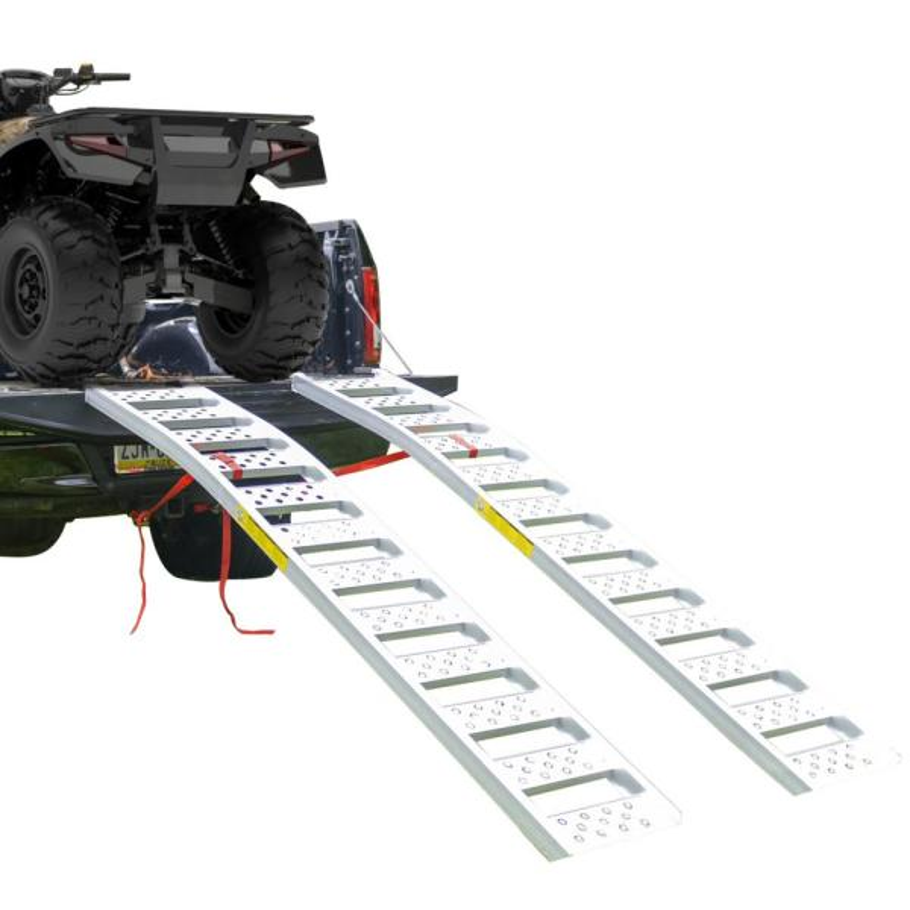 7.5 ft. Long Tru-Grip Aluminum Arched Loading Ramp (Pair)