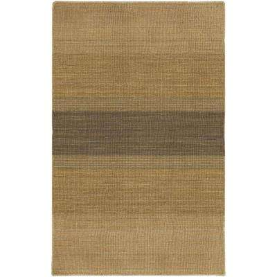 Kilim Tan/Brown 3 ft. 6 in. x 5 ft. 6 in. Indoor Area Rug