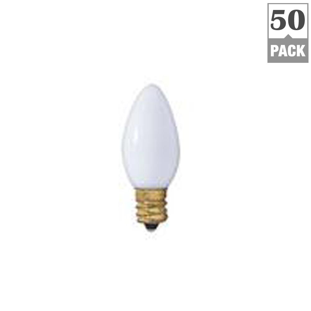 7-Watt C9 Clear Dimmable Warm White Light Incandescent Light Bulb (50-Pack)