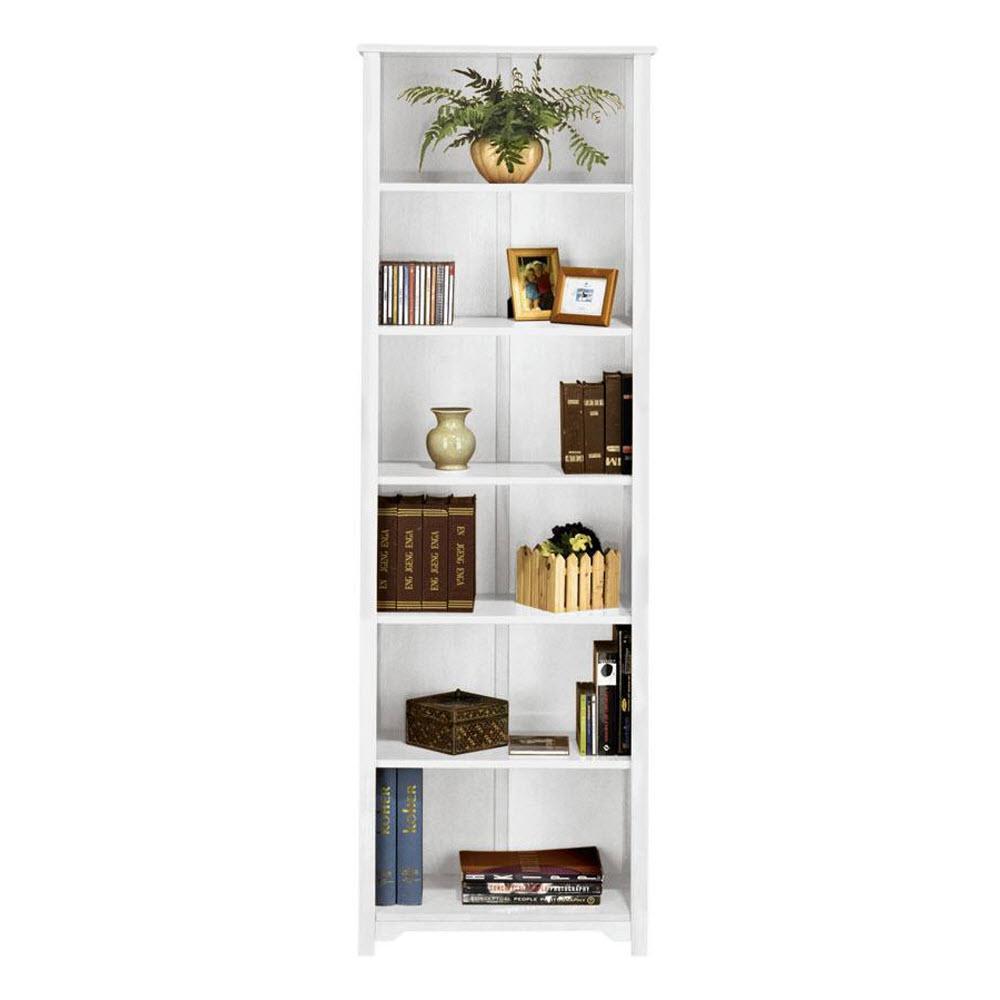 Oxford White Open Bookcase