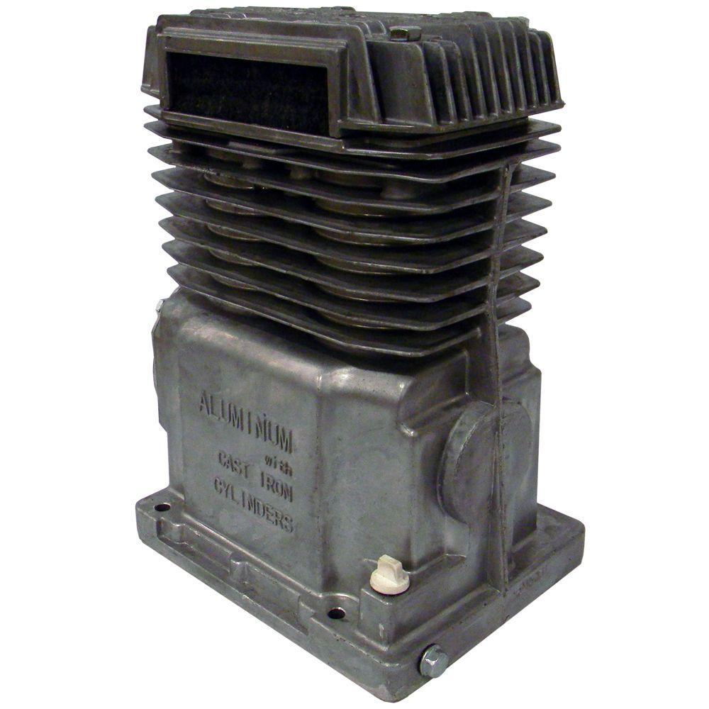 Twin Cylinder Oil Lubricated Belt Drive Aluminum In-Line Air Compressor Pump