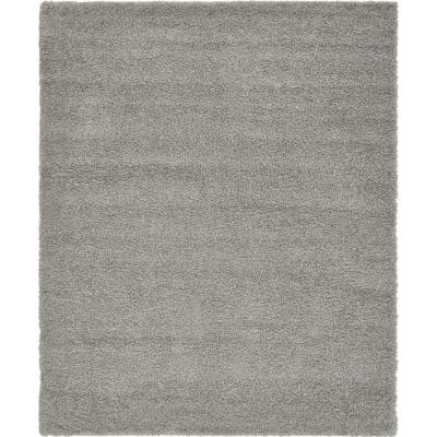 Solid Shag Cloud Gray 8' 0 x 10' 0 Area Rug