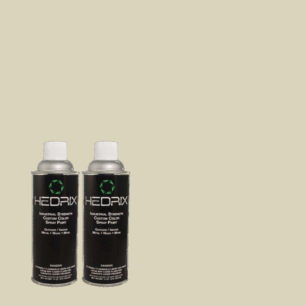 Hedrix 11 oz. Match of 400E-3 Mountain Haze Flat Custom Spray Paint (2-Pack)