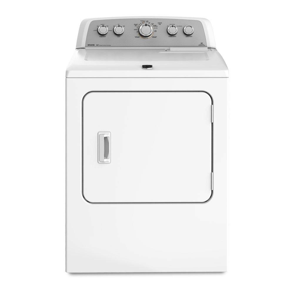 Maytag Bravos X 7.0 cu. ft. Electric Dryer in White
