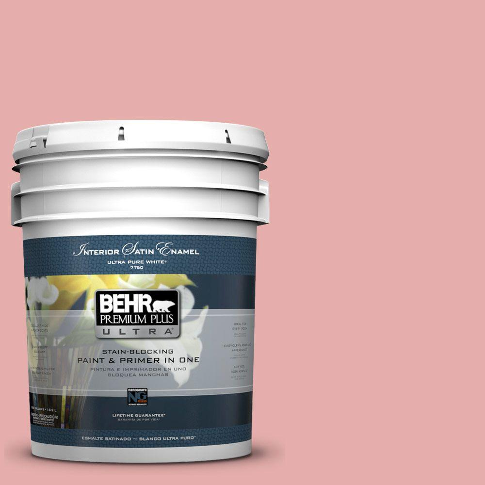 5 gal. #160C-3 Rose Silk Satin Enamel Interior Paint and Primer
