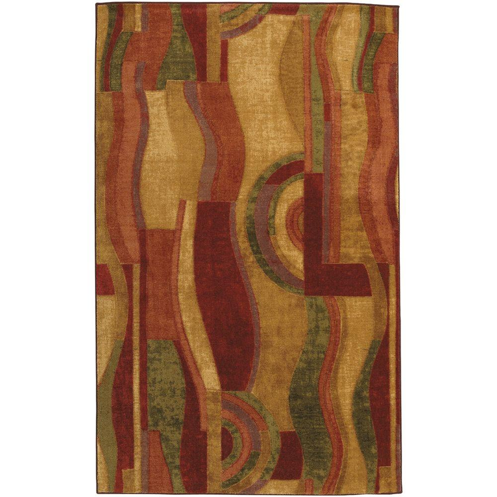 Mohawk Home Pico Wine 5 Ft X 8 Indoor Area Rug 156916 The Depot