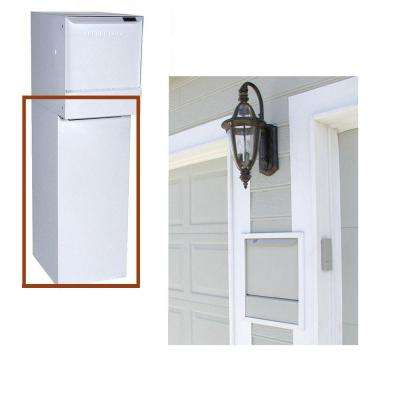 White Wall-Mount Bottom Hold Locking Mailboxes