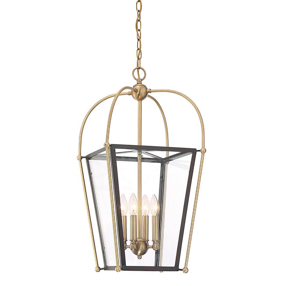 Filament Design 4-Light Warm Brass Pendant