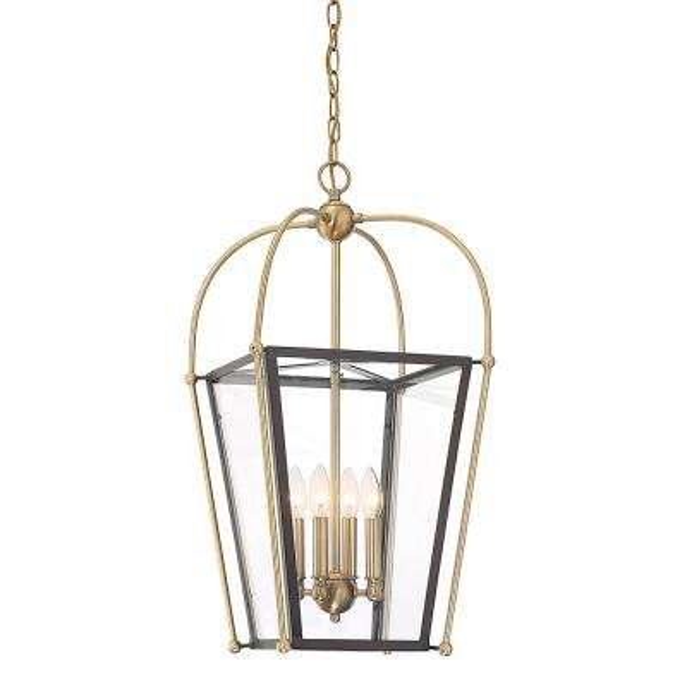4-Light Warm Brass Pendant