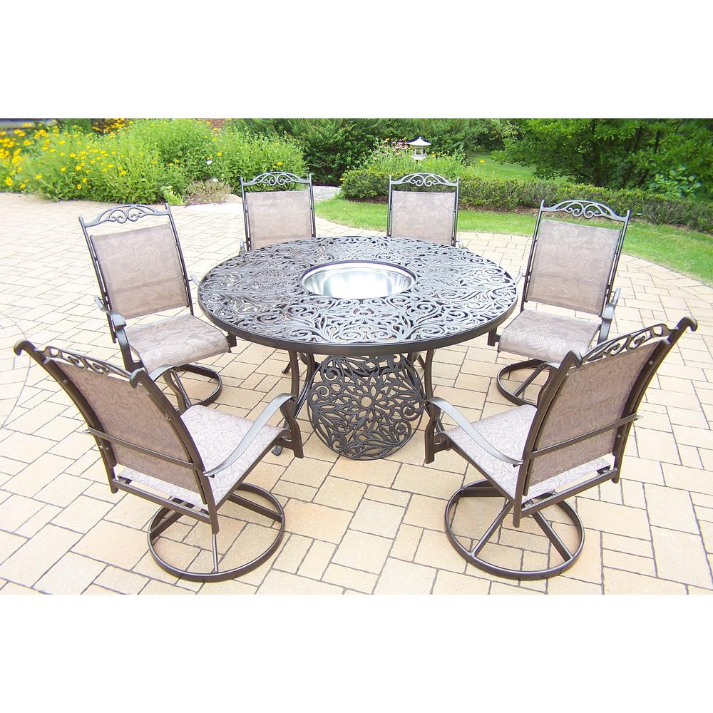 8 Piece Aluminum Outdoor Dining Set and Stainless Steel