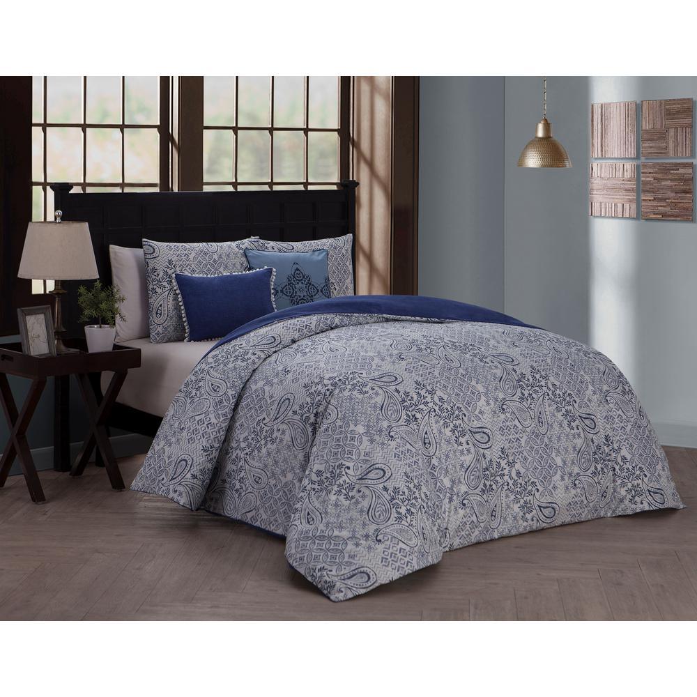 Avondale Manor Fresco Blue King 5-Piece Duvet Set FRS5DVKINGGHBL