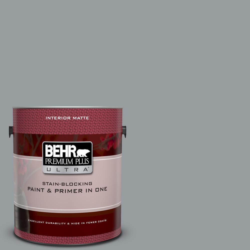 Behr premium plus ultra 1 gal n500 4 pencil sketch matte interior paint