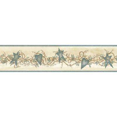 Paxton Tin Hearts and Stars Wallpaper Border