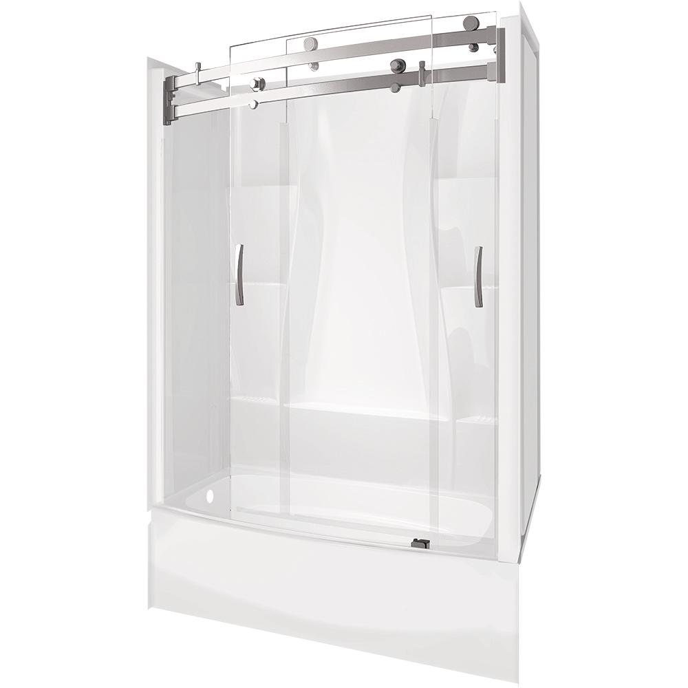 Delta Classic 400 Curve 30 In 60 In X 80 In Bath And